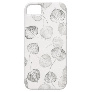 Aspen Leaves Black and White iPhone SE/5/5s Case