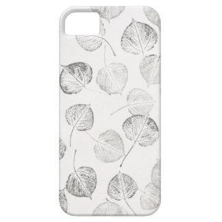 Aspen Leaves Black and White iPhone SE/5/5s Case