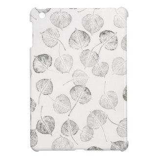 Aspen Leaves Black and White Pattern Case For The iPad Mini