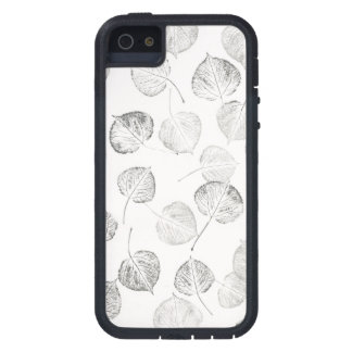 Aspen Leaves Black and White Pattern iPhone SE/5/5s Case