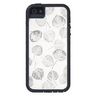 Aspen Leaves Black and White Pattern iPhone SE/5/5s Case