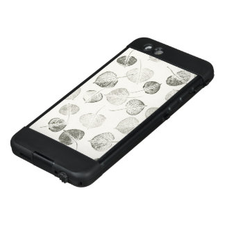 Aspen Leaves Black and White Pattern LifeProof NÜÜD iPhone 6 Case