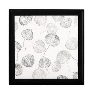 Aspen Leaves Black and White Prints Gift Box