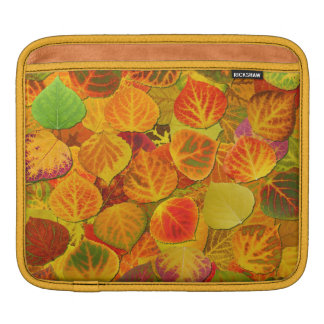 Aspen Leaves Collage Solid Medley 1 iPad Sleeve