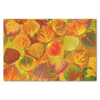 Aspen Leaves Collage Solid Medley 1 Tissue Paper
