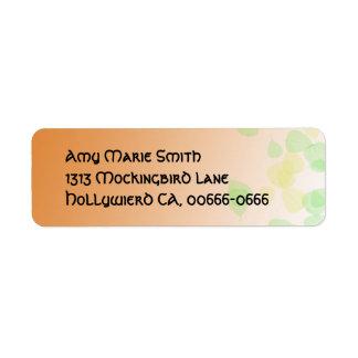 Aspen Leaves Fantasy Address Label