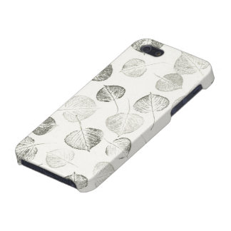 Aspen Leaves Pattern Black and White Cover For iPhone SE/5/5s