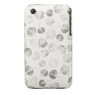 Aspen Leaves Pattern Black and White iPhone 3 Case-Mate Case