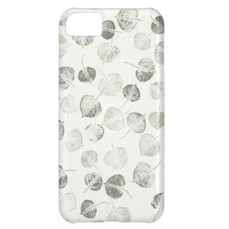 Aspen Leaves Pattern Black and White iPhone 5C Cases