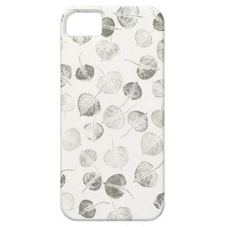 Aspen Leaves Pattern Black and White iPhone SE/5/5s Case