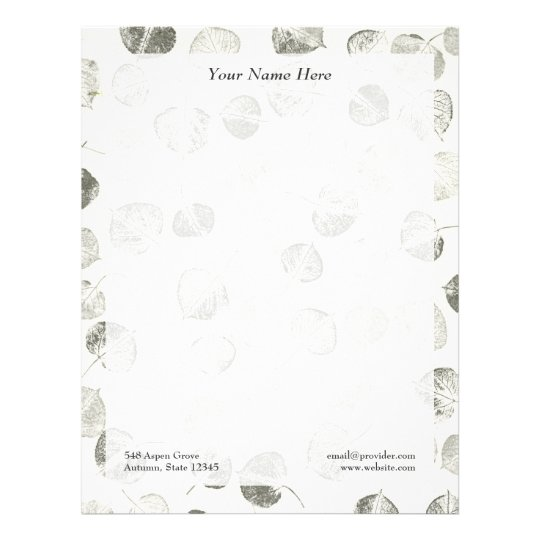 Aspen Leaves Pattern Letterhead