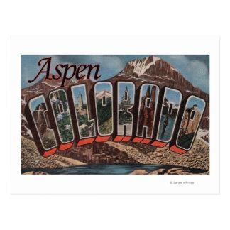 Aspen, letra ScenesAspen, CO de ColoradoLarge Postales