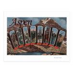 Aspen, letra ScenesAspen, CO de ColoradoLarge Postal