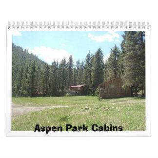Aspen Park Cabins Calendar