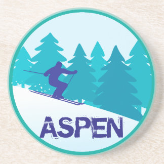 Aspen Ski Circle Drink Coaster