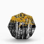 """Aspen Touch of Orange Acrylic Award<br><div class=""""desc"""">A high contrast black and white of an aspen tree grove with selective Colorado on some of the bright orange color of the leaves. Photo: &#169; James &quot;Bo&quot; Insogna</div>"""