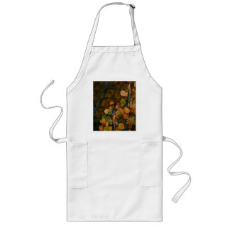 ASPEN TREE BRANCHES WITH FALL COLORED LEAVES LONG APRON