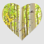 Aspen Tree Forest Autumn Time Portrait Stickers