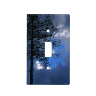 Aspen Tree in the Clouds Light Switch Cover