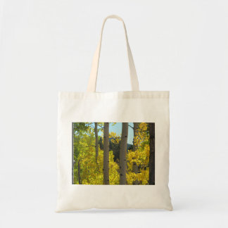 Aspen Tree Trunks in Golden Grove Tote Bag