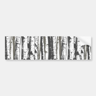 aspen trees bumper sticker