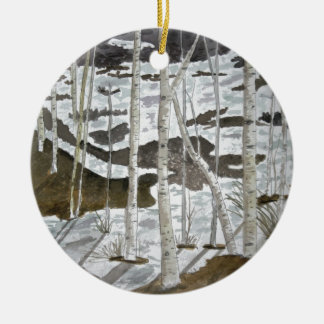 Aspen Trees Ceramic Ornament