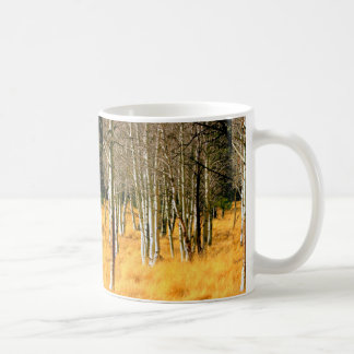 aspen trees coffee mug