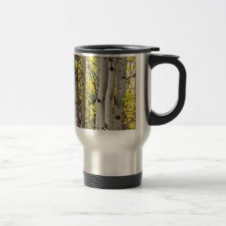 Aspen Trees in Autumn Color Portrait View Coffee Mug