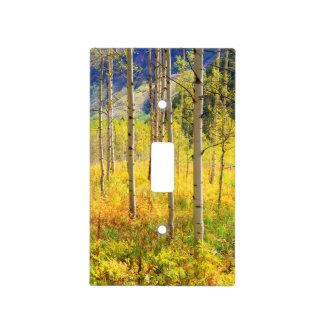 Aspen Trees in Autumn in the Rockies Light Switch Cover