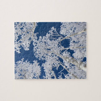 Aspen Trees with Snow Jigsaw Puzzle