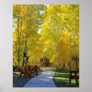 """Aspen Walkway"", Portrait, Autumn Poster"