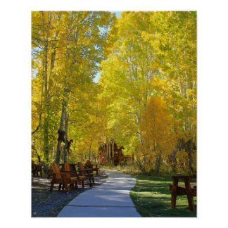 """Aspen Walkway"", Portrait, Autumn Posters"