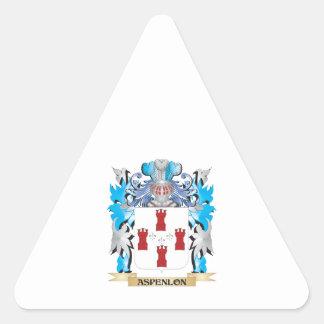 Aspenlon Coat Of Arms Triangle Stickers