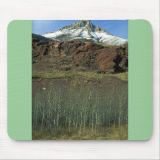 Aspens and Mount Galwey Waterton Lakes National P Mouse Pads