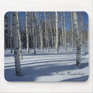 Aspens draped in Winter Mouse Pad