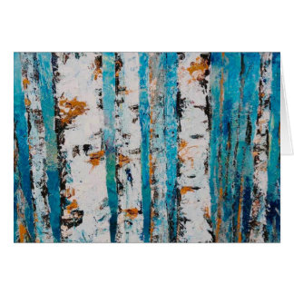 """Aspens In Blue"" by Chris Rice Note Cards"