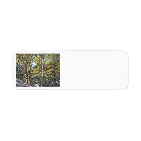 Aspens in Estes Oil Landscape Painting Label