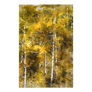 Aspens in the Fall Stationery