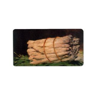Asperagus by Edouard Manet Address Label
