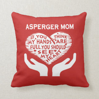 Asperger Mom Throw Pillow