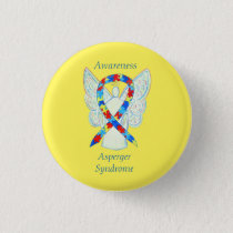 Asperger Syndrome Angel Puzzle Ribbon Pins
