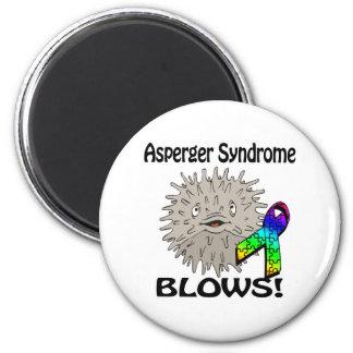 Asperger Syndrome Blows Awareness Design Fridge Magnets