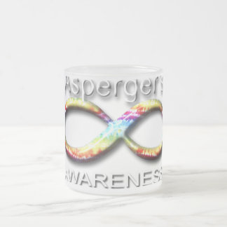 Aspergers Awareness Frosted Glass Coffee Mug