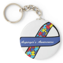 Asperger's Awareness Ribbon Keychain