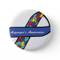 Asperger's Awareness Ribbon Pinback Button
