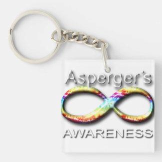 Aspergers Awareness Single-Sided Square Acrylic Keychain