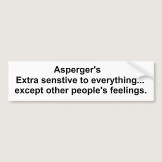 Asperger's gear bumper sticker