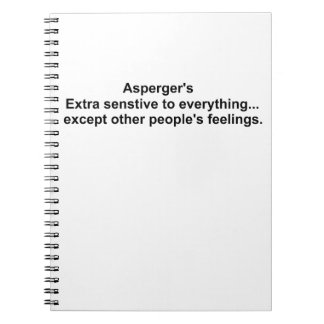 Asperger's gear spiral notebook