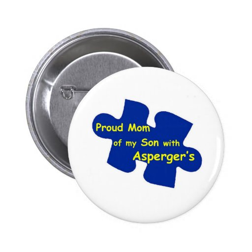 Asperger's Mom 2 Inch Round Button