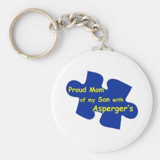 Asperger's Mom Basic Round Button Keychain